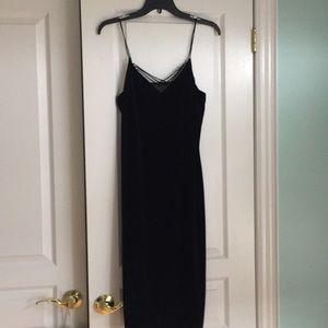 Elegant black Ralph Lauren velvet dress